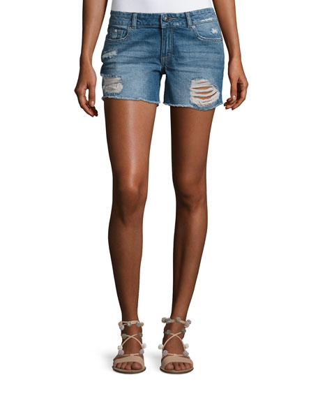 DL1961 Premium Denim Karlie Boyfriend Denim Jean Shorts,