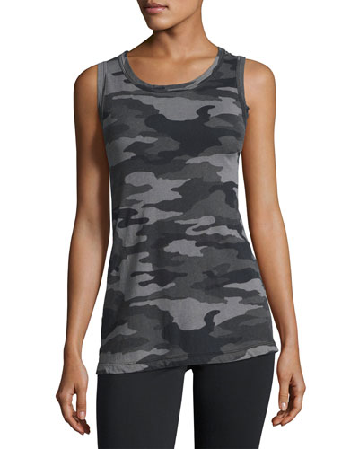 Dark Camo Muscle Tee, Black