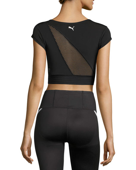 Explosive Performance Crop Top, Black