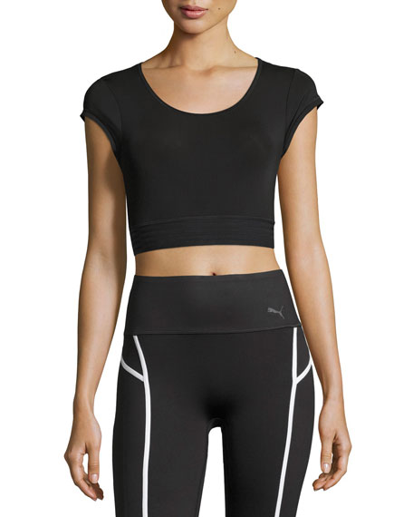Puma Explosive Performance Crop Top, Black