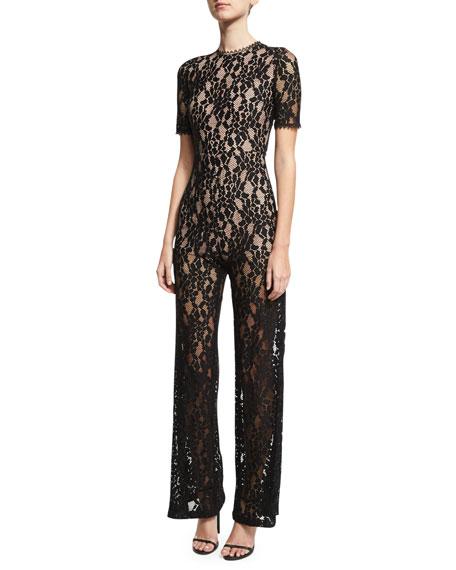 Janus Lace Jumpsuit, Black