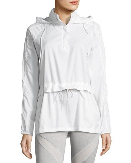 Half-Zip T7 Wind-Resistant Jacket, White