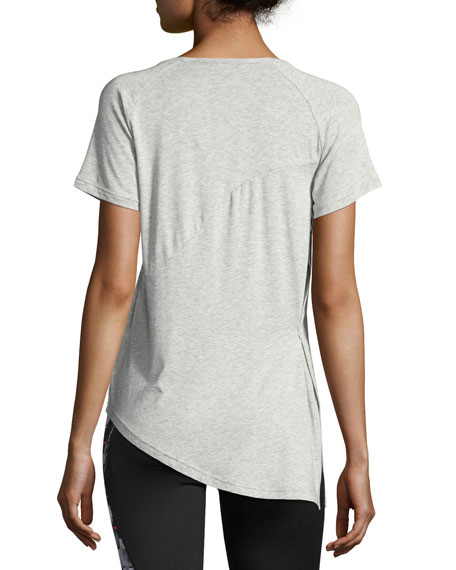 Evolution Side-Knot Athletic Tee, Gray