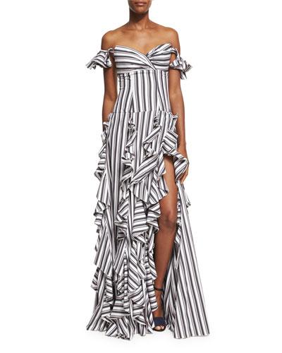 Designer Maxi Dresses : Printed & Leather Maxi Dress at Bergdorf ...