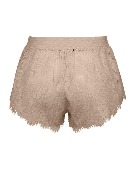 B-Ball Lace Pajama Shorts, Beige