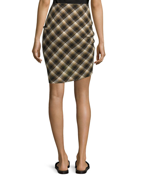 Placid Plaid Flannel Knot-Front Skirt