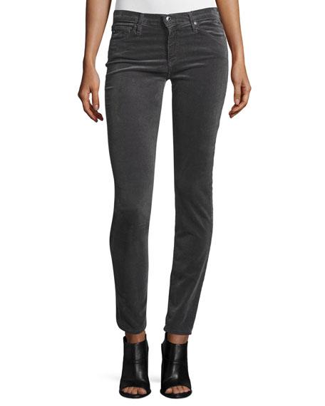 AG Prima Mid-Rise Cigarette Jeans, Asteroid Gray