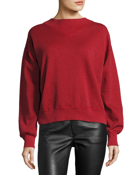 Moby Crewneck Sweatshirt, Red