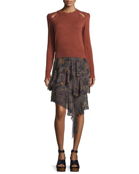 Jeezon Tiered Skirt, Taupe