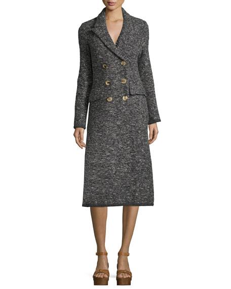 Overton Double-Breasted Melange Coat