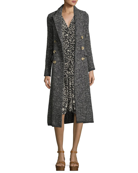 Etoile Isabel Marant Overton Double-Breasted Melange Coat