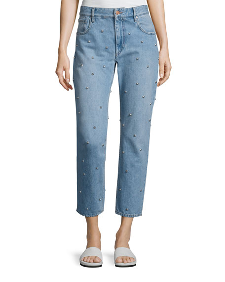 Califfy Studded Denim Jeans