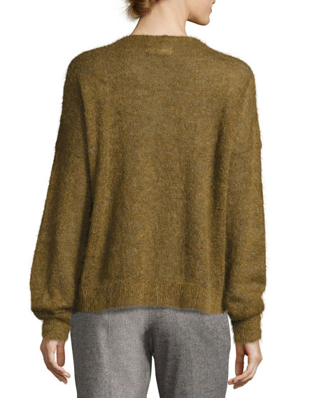 Difton Knit Crewneck Sweater, Bronze