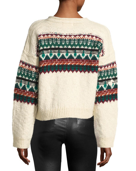 Elsey Fair Isle Sweater, Emerald
