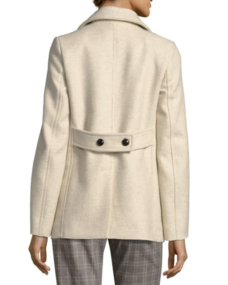 Floffy Double-Breasted Pea Coat