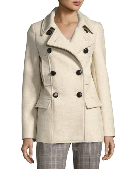 Etoile Isabel Marant Floffy Double-Breasted Pea Coat