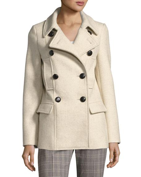 Floffy Double-Breasted Pea Coat