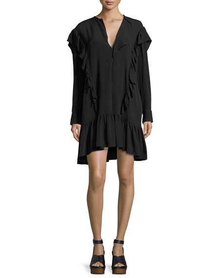 Etoile Isabel Marant Wedy Ruffle-Trim Cotton Dress