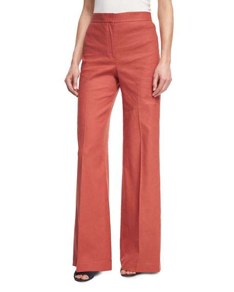 With Credit Card Salvatore Ferragamo High-Rise Wide-Leg Pants Online Sale Cost Sale Online Latest Collections Sale Online Get To Buy Online EiqSibQg