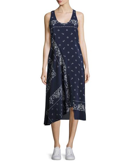 Apalania Bandana Tank Dress, Blue