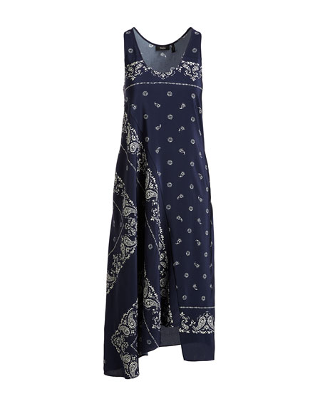 Apalania Bandana Tank Dress, Blue