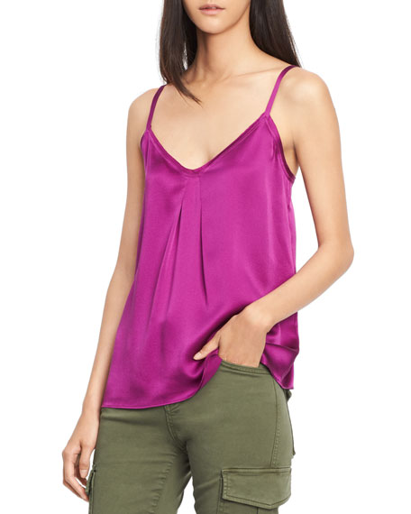 Pleated V-Neck Camisole