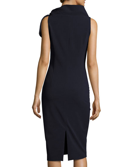 Sleeveless Tie-Neck Cocktail Dress