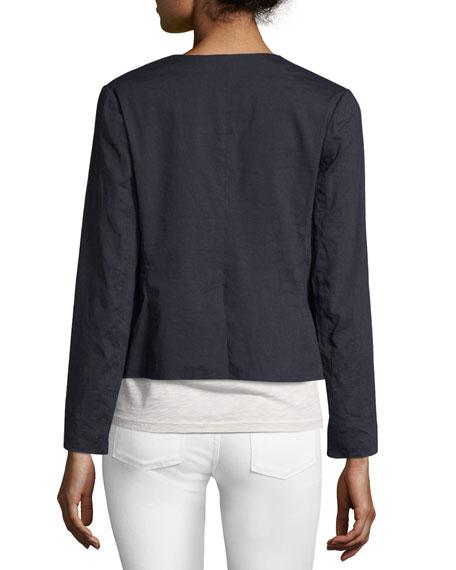 Benefield Crunch Wash Jacket, Blue