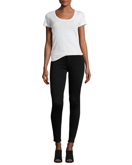 Nico Mid-Rise Super Skinny Jeans, Black