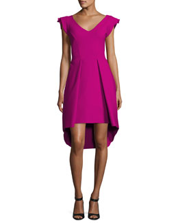 Lione Pleated Jersey Cocktail Dress, Pink