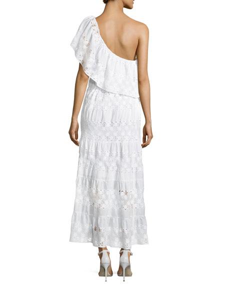 Madeline Baby Pineapple Netting Dress, White