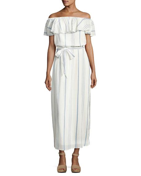 Joie Almante Striped Cotton Maxi Dress, White