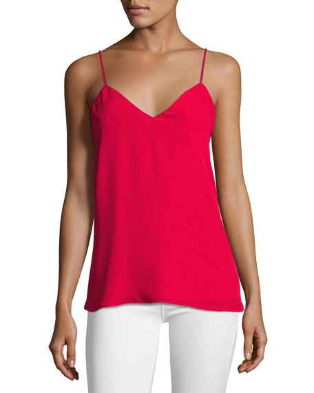 The Essential Silk Cami, Crush Red