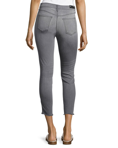 Alana High-Rise Crop Skinny Jeans, Gray