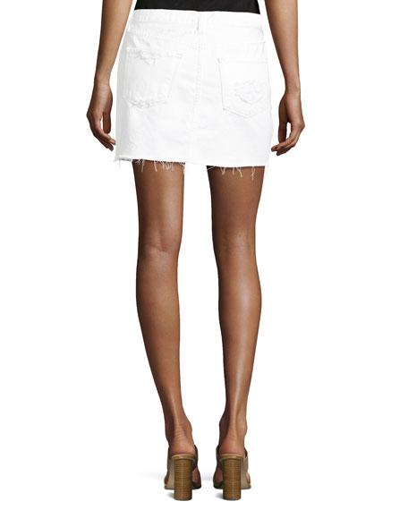 Bonny Mid-Rise Cotton Mini Skirt, Distract