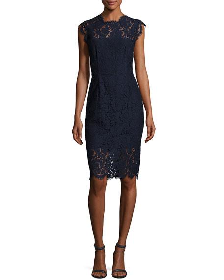 Suzette Floral Lace Sheath Dress