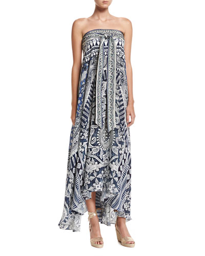 Long Sarong Printed Coverup Dress