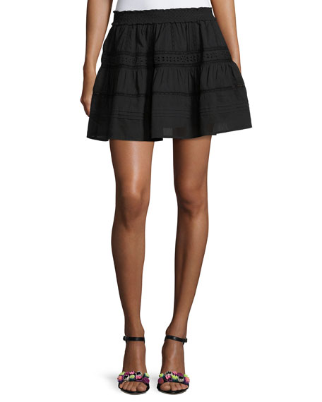 Botanic Victorian Mini Skirt, Black