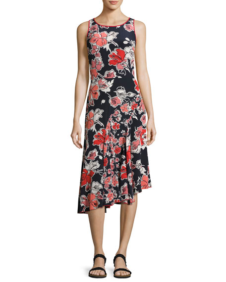 GREY by Jason Wu Sleeveless Floral-Print Asymmetric Dress,