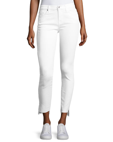 The Skinny Step Hem Jeans, White