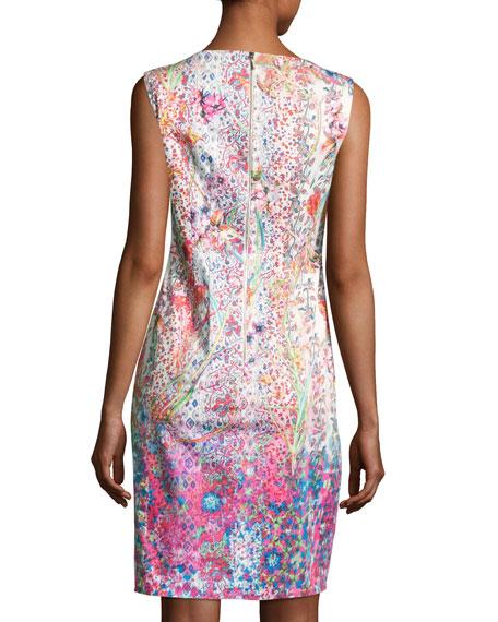 Emory Sleeveless Embellished Floral Sheath Dress