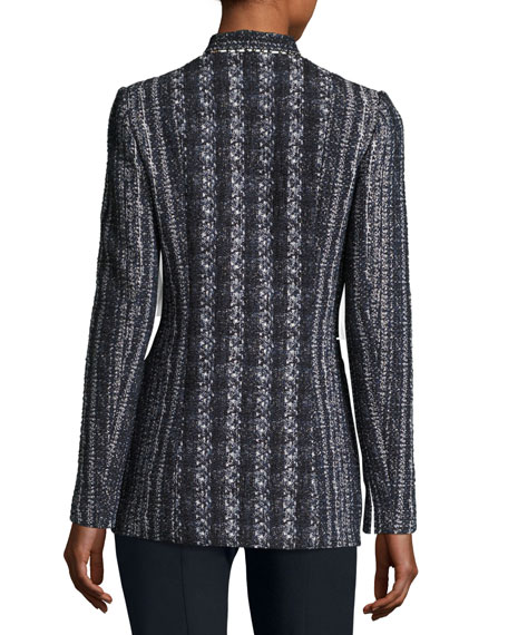 Bonnie Tweed Blazer Jacket, Navy