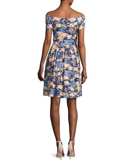 Gigi Off-The-Shoulder Jersey Dress, Multicolor