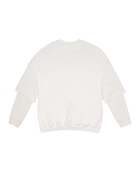 Double-Sleeve Terry Sweatshirt