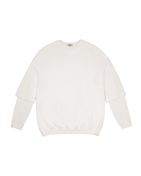 Double-Sleeve Terry Sweatshirt