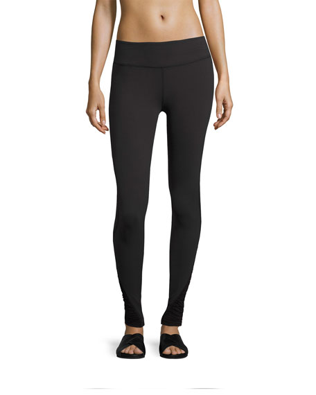 Beyond Yoga Down The Line Shirred-Sides Performance Legging,