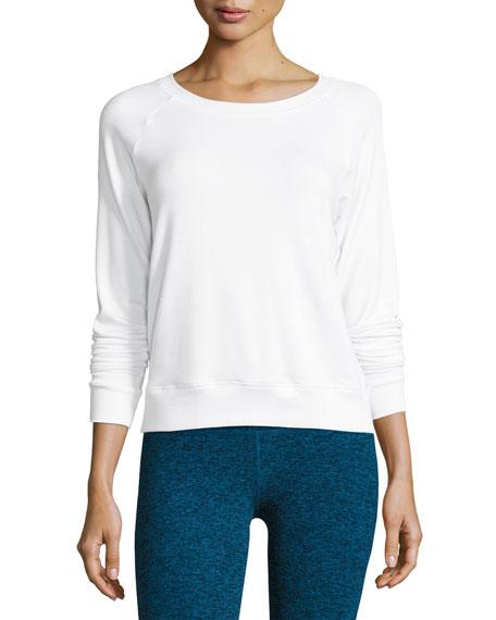 Beyond Yoga Seam You Later Pullover Sweatshirt, White