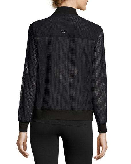 So Bomber Mesh Athletic Jacket, Black