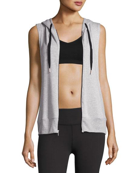 Vest Behavior Hoodie, Light Gray
