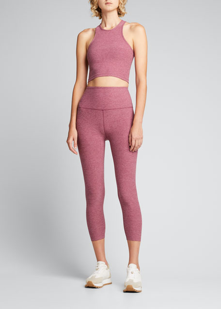 Space-Dye High Waist Capri Legging
